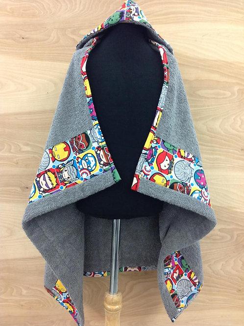 Hooded Towels-Marvel Chibi/Grey