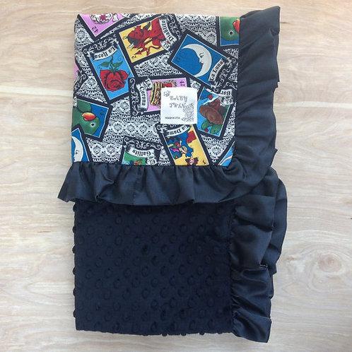 Baby Blanket/ 30x36 Blanket/ Receiving Blanket/ Loteria/ Ruffle