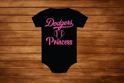 OnesieDodgers Princess. MLB. Dodgers.  Onesie Dodgers Pink.Bodysuit.