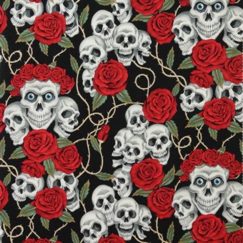 White Skulls and Roses. Skulls and Roses