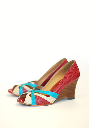 Multicolored Wedge Shoes