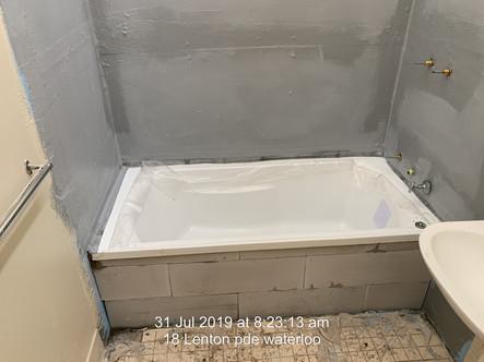 New bath Install