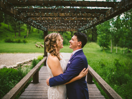 Laura + Brandon | Bozeman Woodlands Wedding