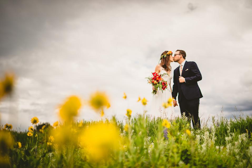Wedding wildflowers on Pete's Hill in Bozeman, Montana
