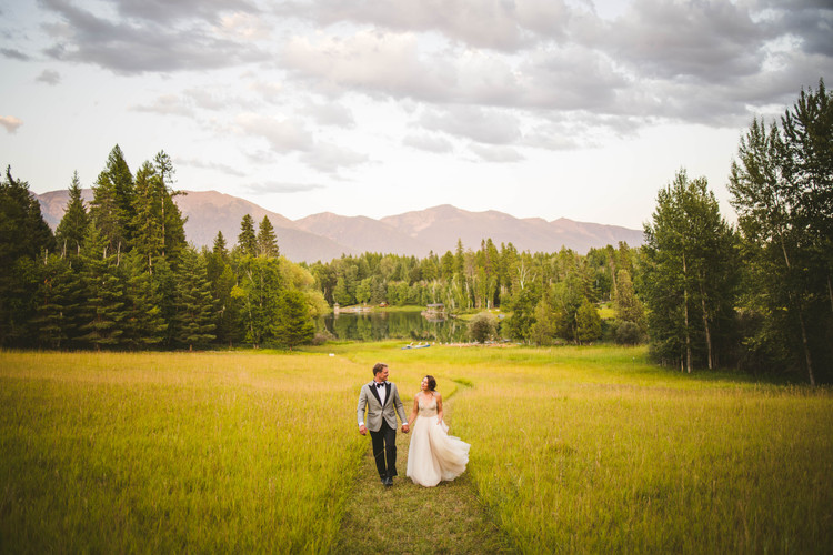 Sabrina Schrebeis and Zac Seipel's wedding at a family cabin in Big Fork, Montana