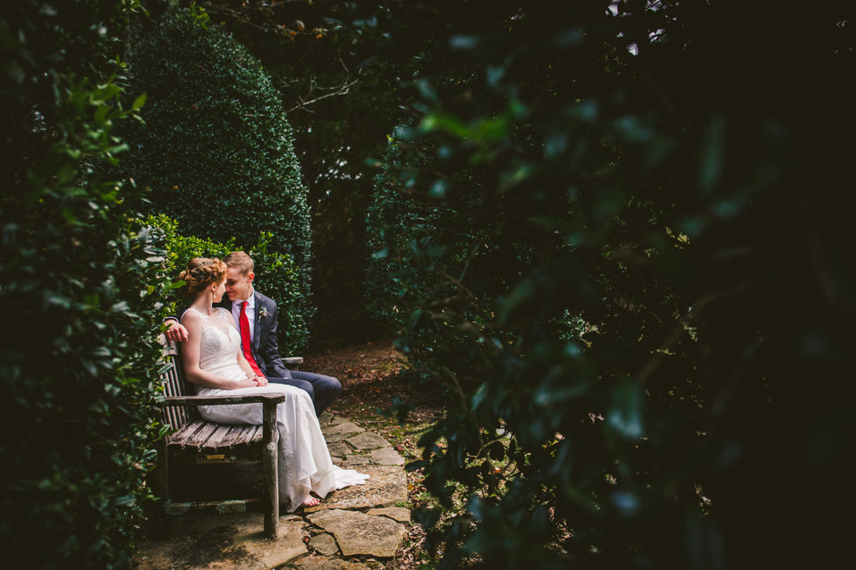 Romantic wedding portraits in Chattanooga, Tennessee