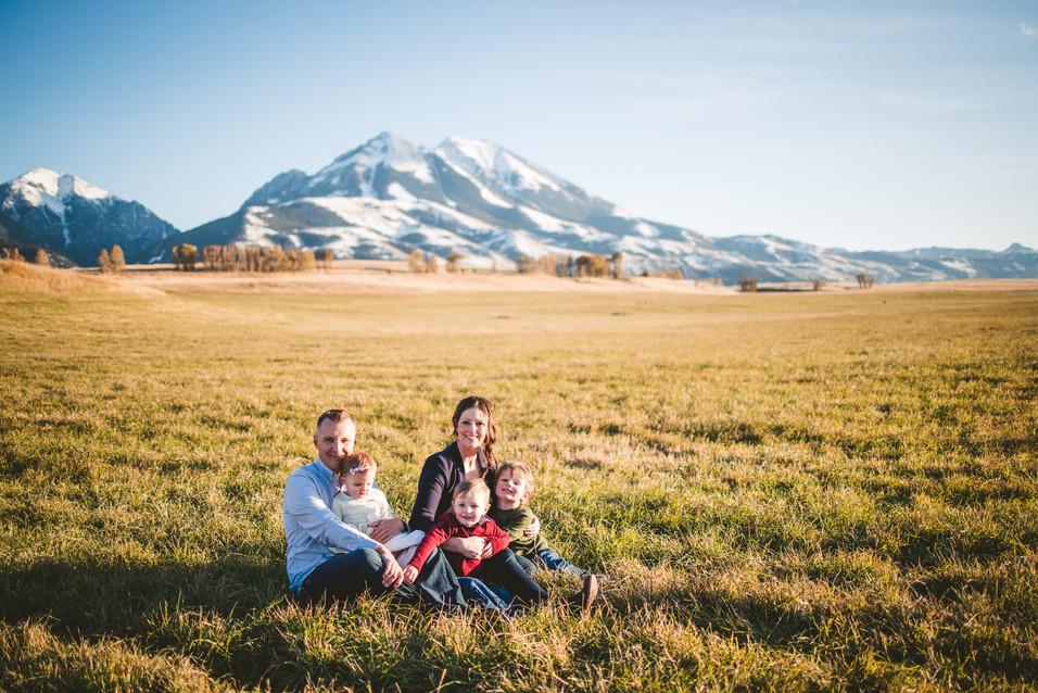 Felton Family at Sage Lodge, Emigrant Montana, 40 Watt Photo