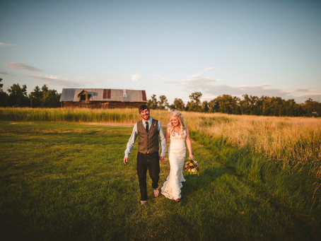 Anna + Tom | Bozeman Wedding | 1915 Barn