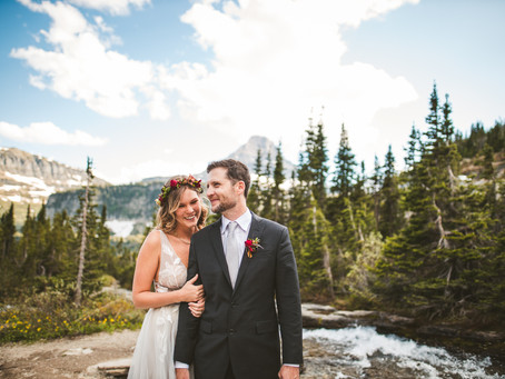 Brenna + Daniel | Glacier National Park Elopement | Bozeman Wedding Photographer