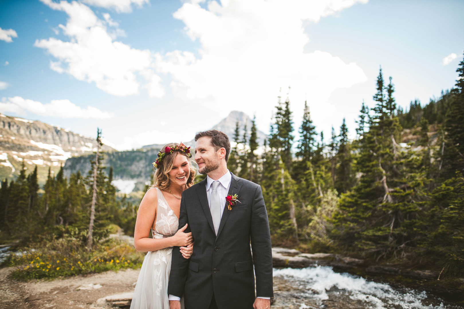 Brenna and Daniel's elopement in Glacier National Park