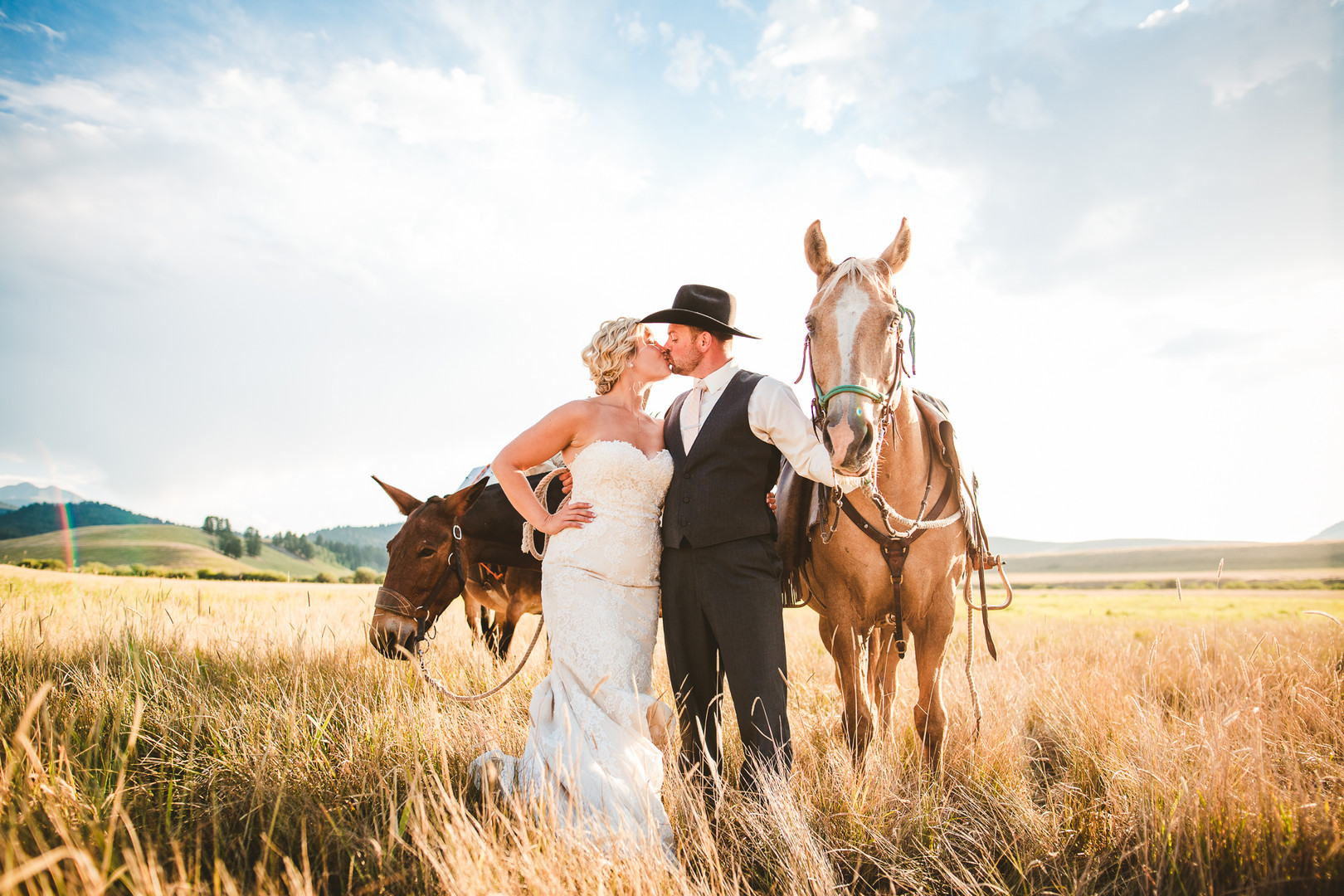 Wedding on Ted Turner's Flying D Ranch south of Bozeman, Montana