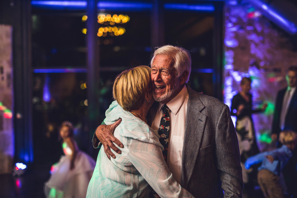 Grandparents share a dance at Matt + Krista's wedding in San Antonio, Texas