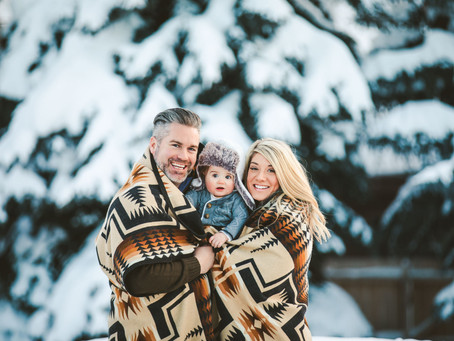 Renevier Family | Winter Family Photos | 40 Watt Photo | Bozeman Montana