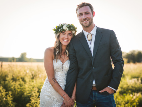 Jackie + Colby Adamek | Bozeman Wedding | Firelight Farms