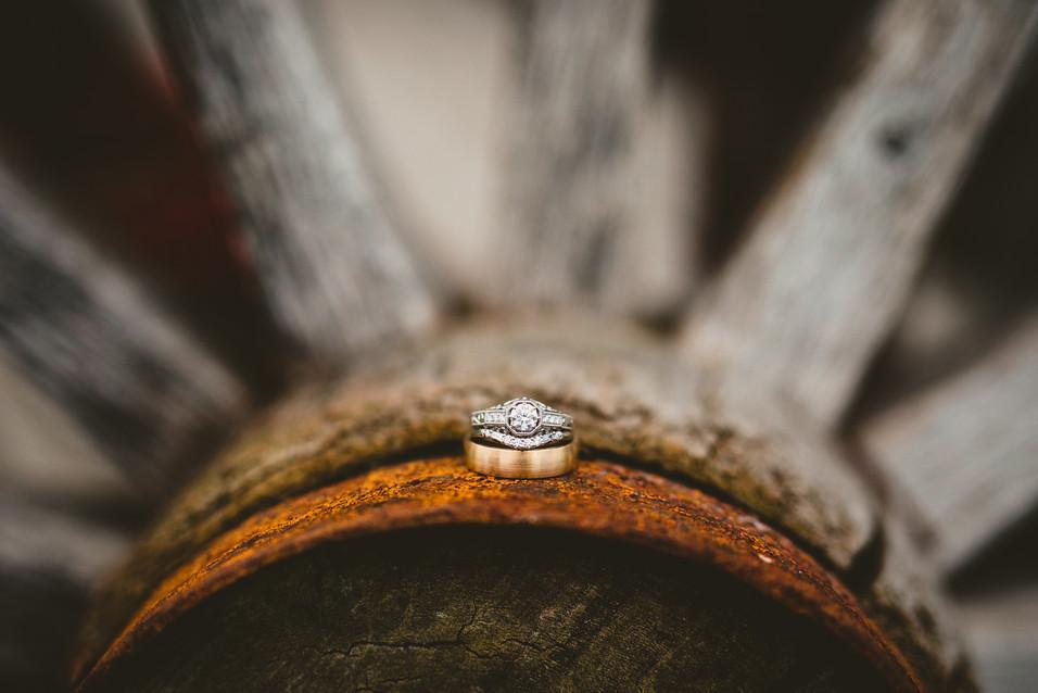 Wedding ring details at Hart Ranch