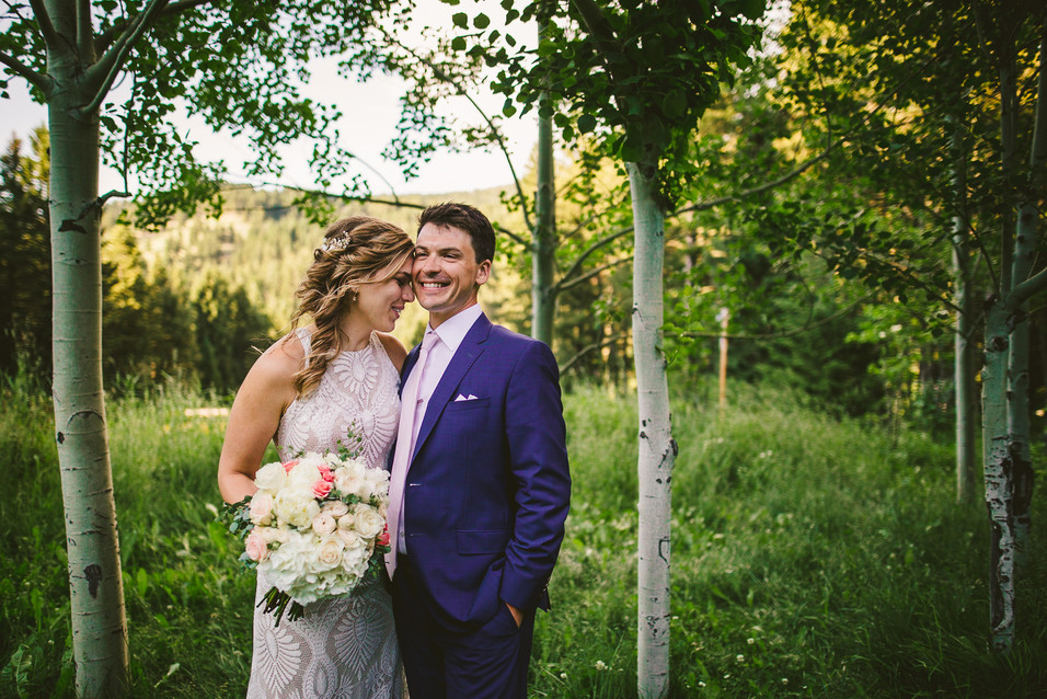 Bride and groom at the Woodlands at Cottonwood Canyon