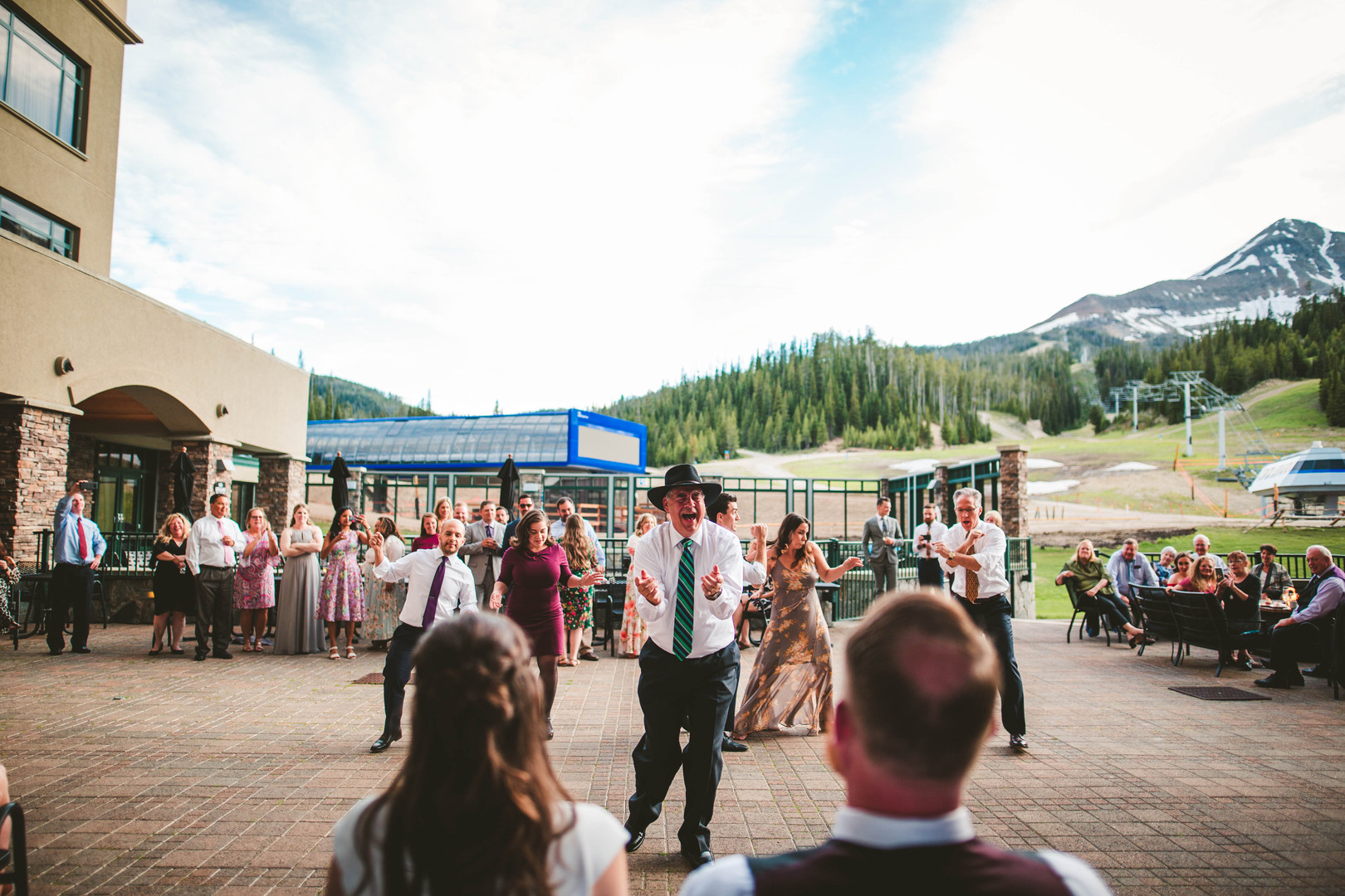 Christina's family prepare a surprise wedding dance at Big Sky Resort