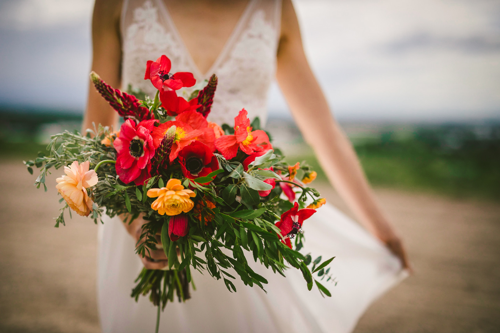 Allison's bouquet by Labellum Flowers in Bozeman, Montana
