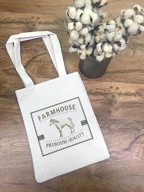 TOTE BAG - farmhouse horse