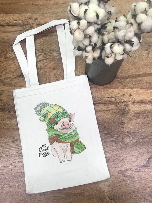 TOTE BAG - cool piggy