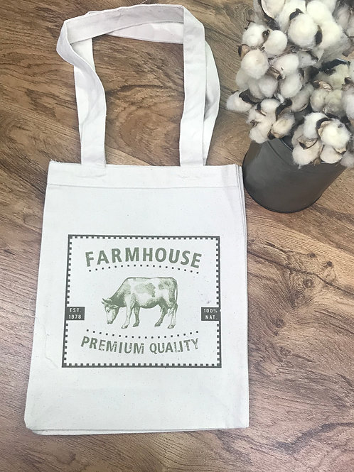 TOTE BAG- farmhouse cow