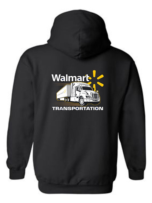Walmart Transportation with Truck Full Zip Hoodie -  Back Print Only