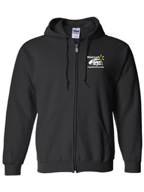 Walmart Transportation with Truck LC Full Zip Hoodie