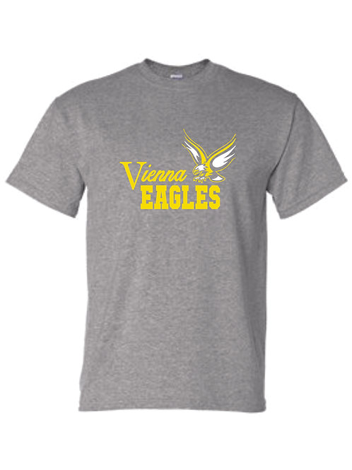 VIENNA EAGLES SHORT SLEEVE GILDAN 8000 GREY