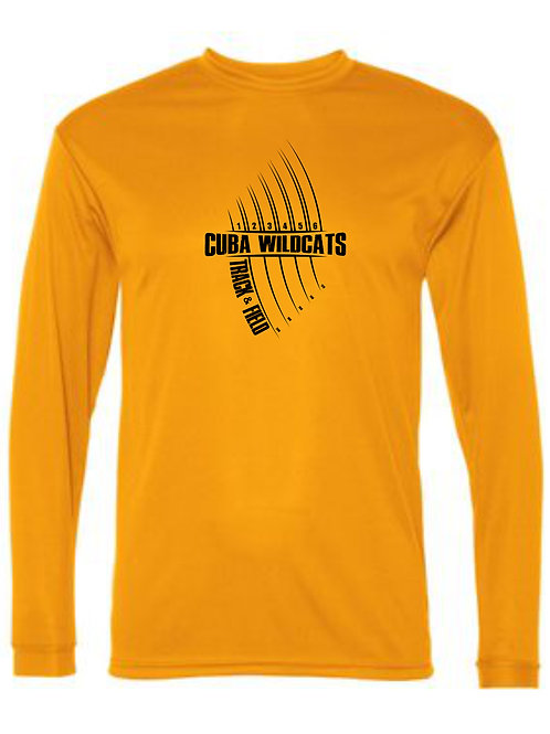 C2 Sport Performance Long Sleeve T Gold