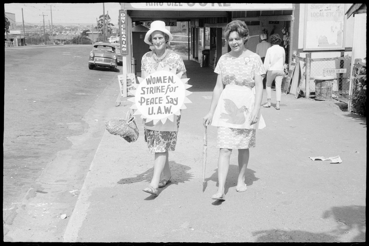 Two women during Aldermaston Peace March