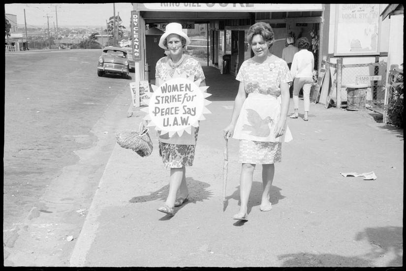 Two women during Aldermaston Peace March, Brisbane, 1964