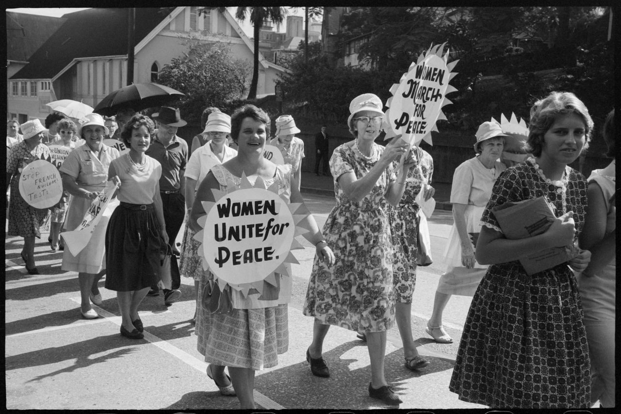 Marchers, Aldermaston Peace March, Brisbane, 1964