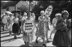 Marchers, Aldermaston Peace March, Brisb