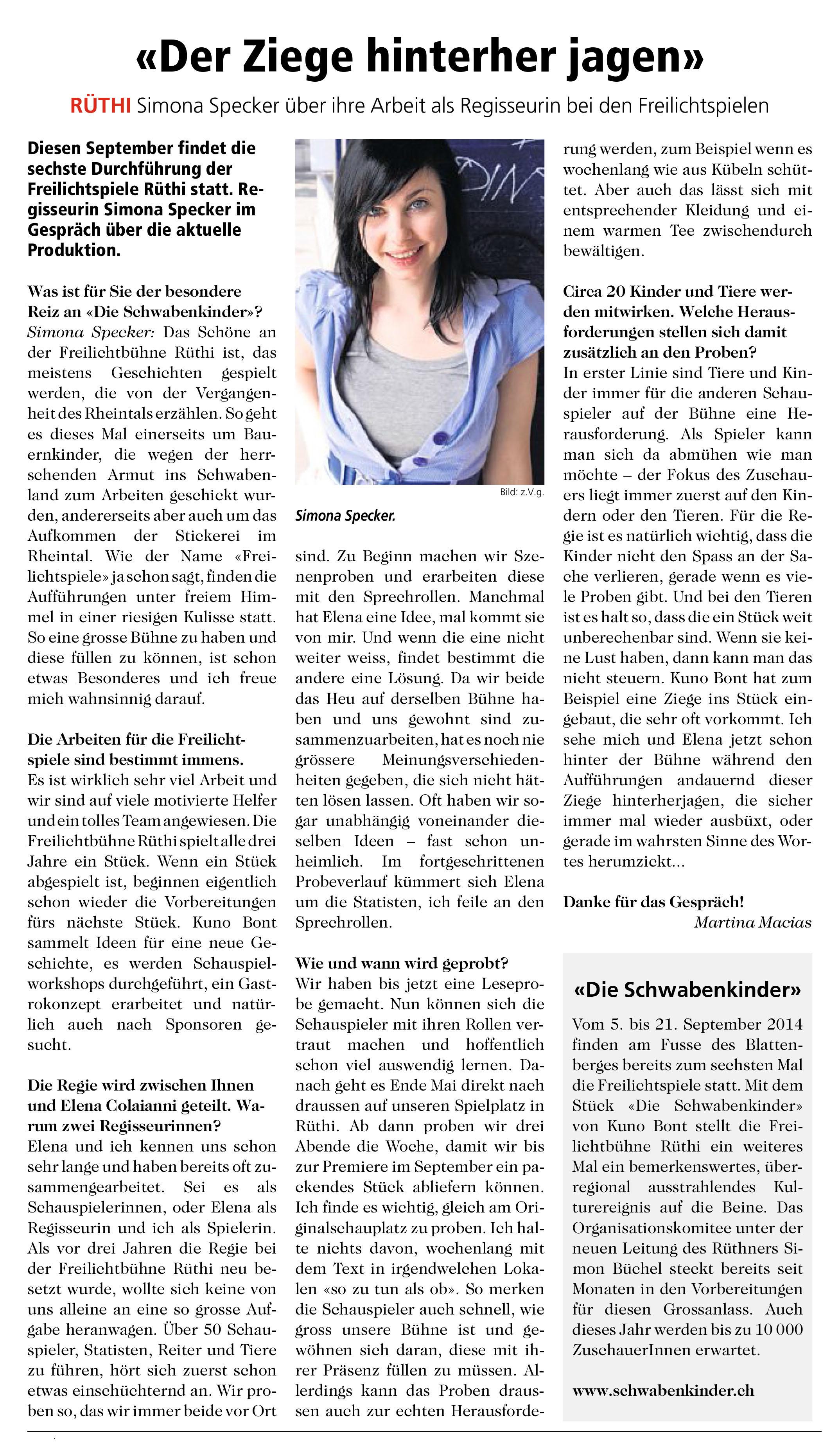 20140507 Rheintaler Bote Schwabenkinder