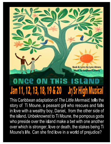 "Auditions for Youth Production of  ""Once On This Island""!"