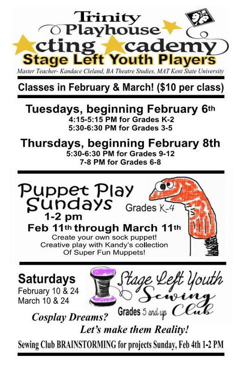 Acting Classes Resume February 6th!