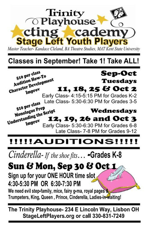 Register for Fall Acting Classes NOW!