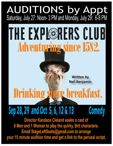"""Auditions for """"The Explorers Club"""" set!"""