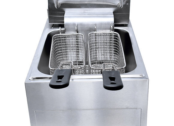 NSF CE-CN-0012 110 V DOUBLE TABLE TOP ELECTRIC FRYER