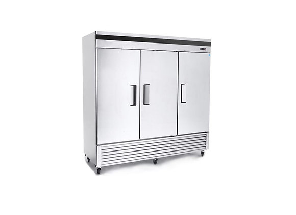 NSF Three Door Stainless Steel Refrigerator - C-3RB