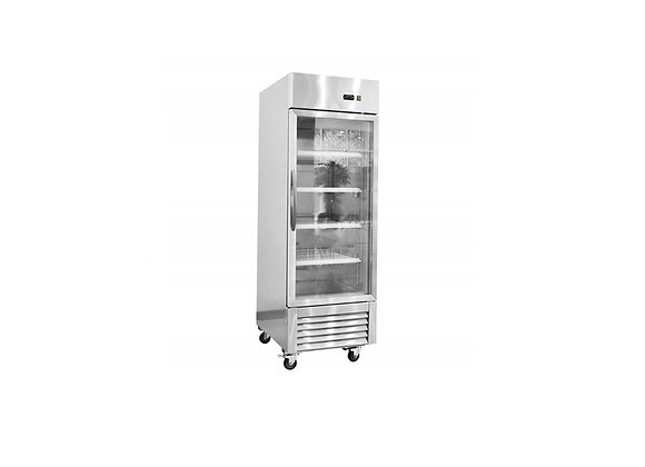 NSF Stainless Steel Single Glass Door Refrigerator - KR-23BG