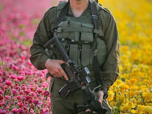 Hot IDF Soldiers Bringing you Flowers for Shabbat