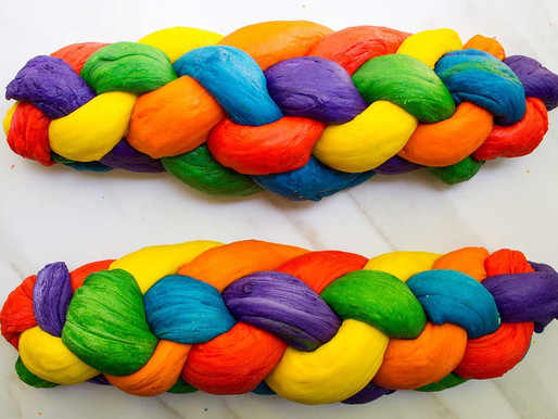 How to Make Rainbow Challah for Parshat Noach