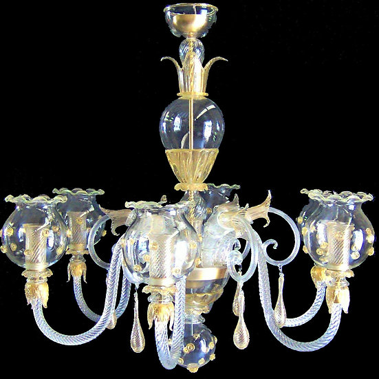 Suspension LED En Verre 'Murano' Fait Main'Sfere di Verrelo'6 x E14