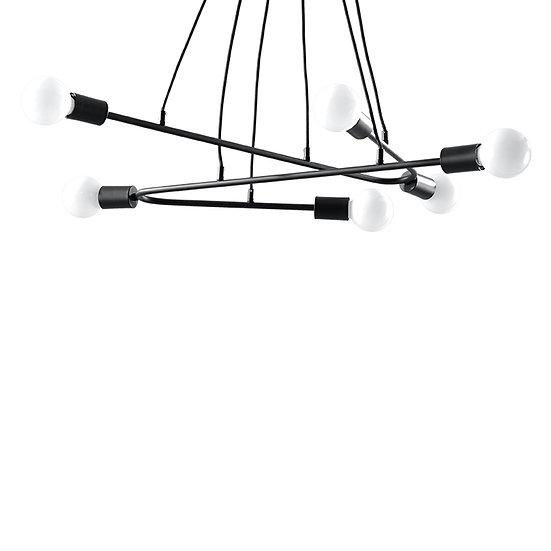 Suspension LED 'Dravegny'Noir IP20 5 xE27