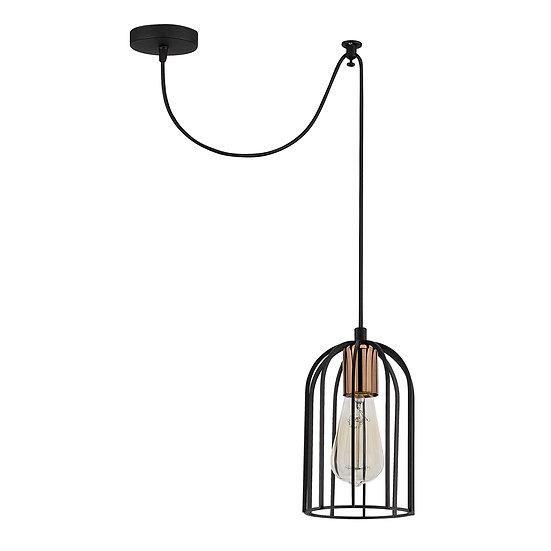 Suspension LED 'Caubiac'Noir 1 x E27