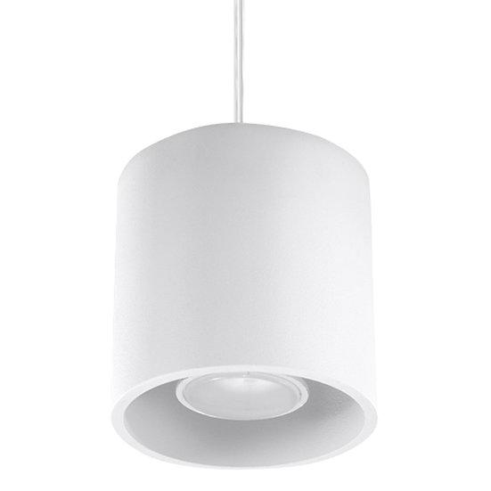 Suspension LED 'Cierges' Blanc IP20Câble AjusTable 1 xGU10 Sans Ampoule