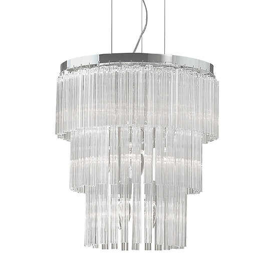 Suspension LED 'ELEGANT' 12 xE14 Ampoules Non Fourni