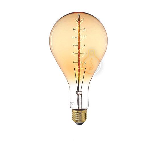 Ampoule E27 'Heuqueville' Filament Carbone ambre Dimmable Blanc Chaud