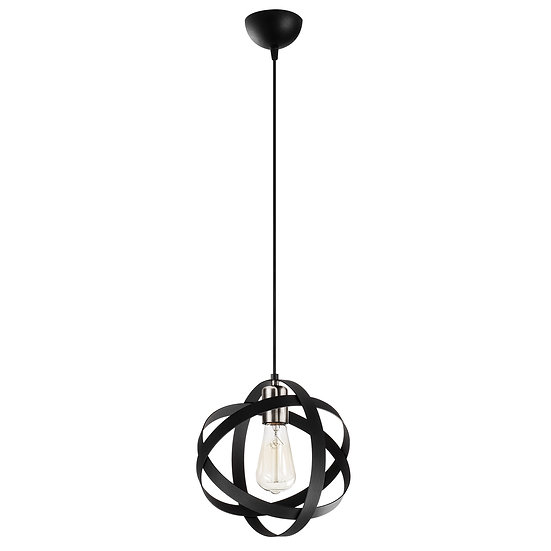 Suspension LED 'Guemps' Noir/Nickel 1 x E27